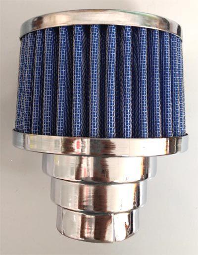 FILTRO cromado c/ elemento azul fusca 1300/1500/1600 DUPLO FLUXO  - SSR Peças & Acessórios ltda ME.