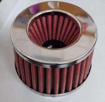 FILTRO cromado c/ elemento vermelho fusca 1300/1500/1600 DUPLO FLUXO  - SSR Peças & Acessórios ltda ME.
