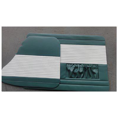 Forração verde gelo porta dianteira + traseira fusca até 1977   - SSR Peças & Acessórios ltda ME.