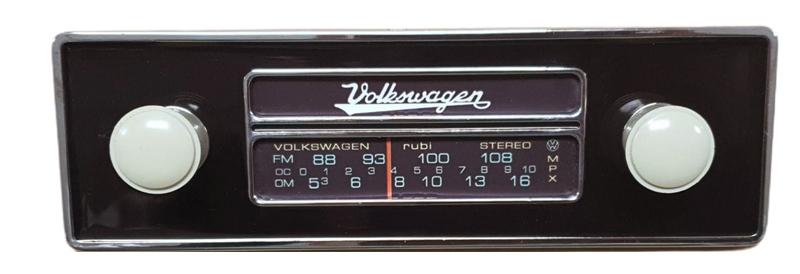 Frente falsa I tapa buraco do RADIO FUSCA c/ botão bege  - SSR Peças & Acessórios ltda ME.