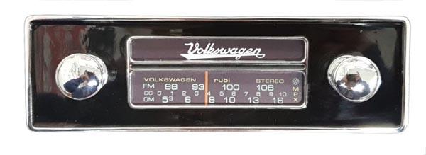 Frente falsa I tapa buraco do RADIO FUSCA c/ botão cromado  - SSR Peças & Acessórios ltda ME.