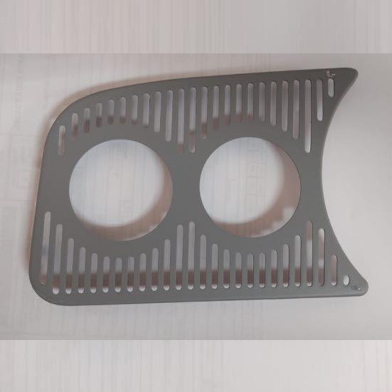 Grade painel esquerda c/ 2x furos 52mm FUSCA   - SSR Peças & Acessórios ltda ME.