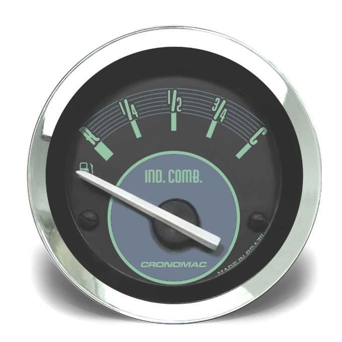 Indicador de Nível de Combustível 52mm CRONOMAC Elétrico Verde VW  - SSR Peças & Acessórios ltda ME.