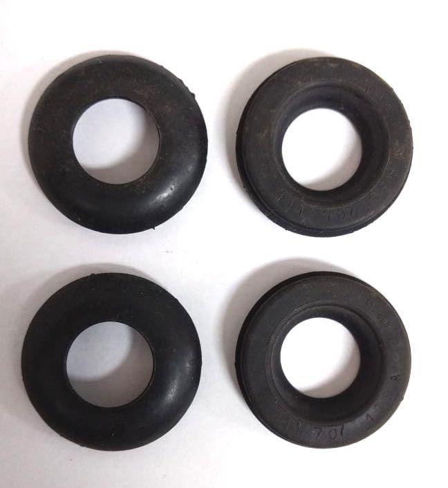 Jogo c/ 04 borrachas do tubo para-choque FUSCA até 1970 1. série  - SSR Peças & Acessórios ltda ME.