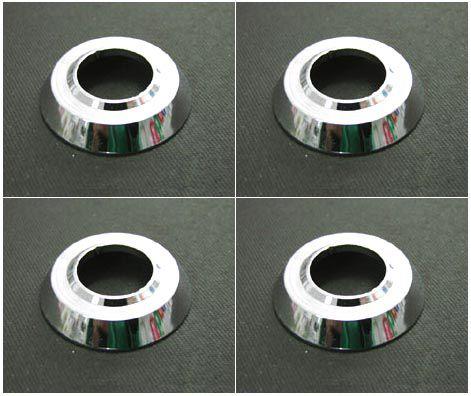 Jogo c/ 04 rosetas em alumínio cromado   - SSR Peças & Acessórios ltda ME.