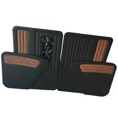 Jogo de forração lateral FUSCA preto c/ jacarandá com bolsa   - SSR Peças & Acessórios ltda ME.