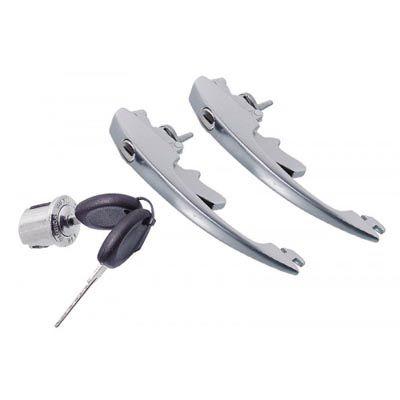Jogo maçaneta fusca c/ cilindro ignição 78/96   - SSR Peças & Acessórios ltda ME.