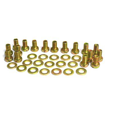 Kit c/ 17 parafusos + arruelas para lataria motor fusca  - SSR Peças & Acessórios ltda ME.