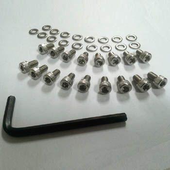 Kit Parafuso 17 parafusos + arruelas INOX c/ chave ALLEN p/ lataria do motor FUSCA  - SSR Peças & Acessórios ltda ME.