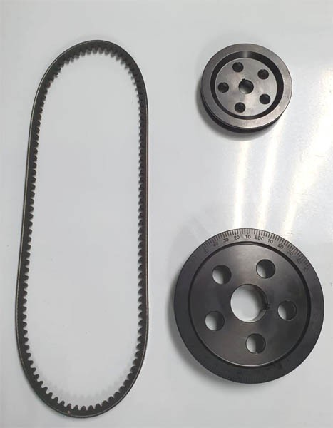 Kit polias alumínio preta MOTOR 1300/1500/1600 STANDER + correia  - SSR Peças & Acessórios ltda ME.