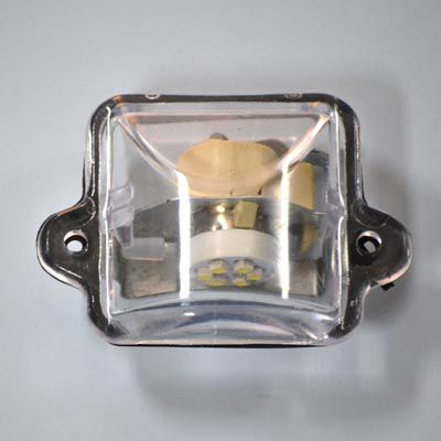 Lente para luz da placa fusca 64 ao 96 c/ lampada LED   - SSR Peças & Acessórios ltda ME.