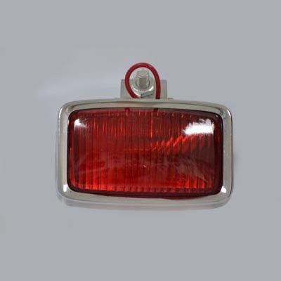 Luz auxiliar vermelha em metal cromada   - SSR Peças & Acessórios ltda ME.