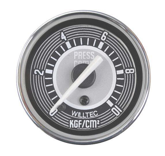Manômetro Mecânico Pressão do Combustível 0-10kgf/cm²  52mm  - SSR Peças & Acessórios ltda ME.
