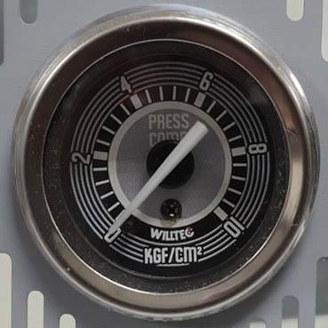 Manômetro Mecânico Pressão do Combustível 0-10kgf/cm²  52mm w04 629c  - SSR Peças & Acessórios ltda ME.
