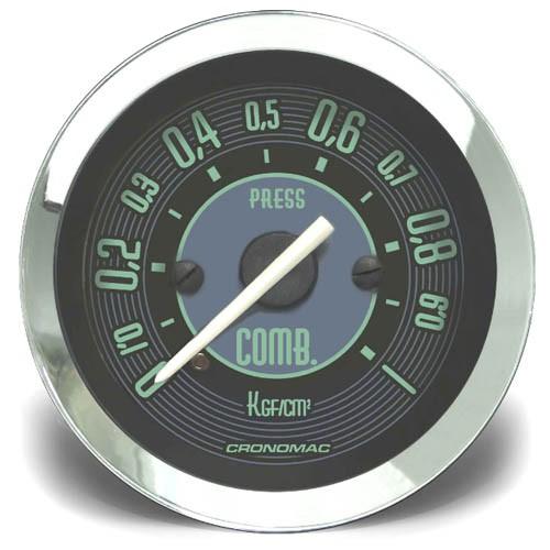 Manômetro Pressão Combustível 52mm CRONOMAC Mecânico 1kg VW VERDE 155201vw  - SSR Peças & Acessórios ltda ME.
