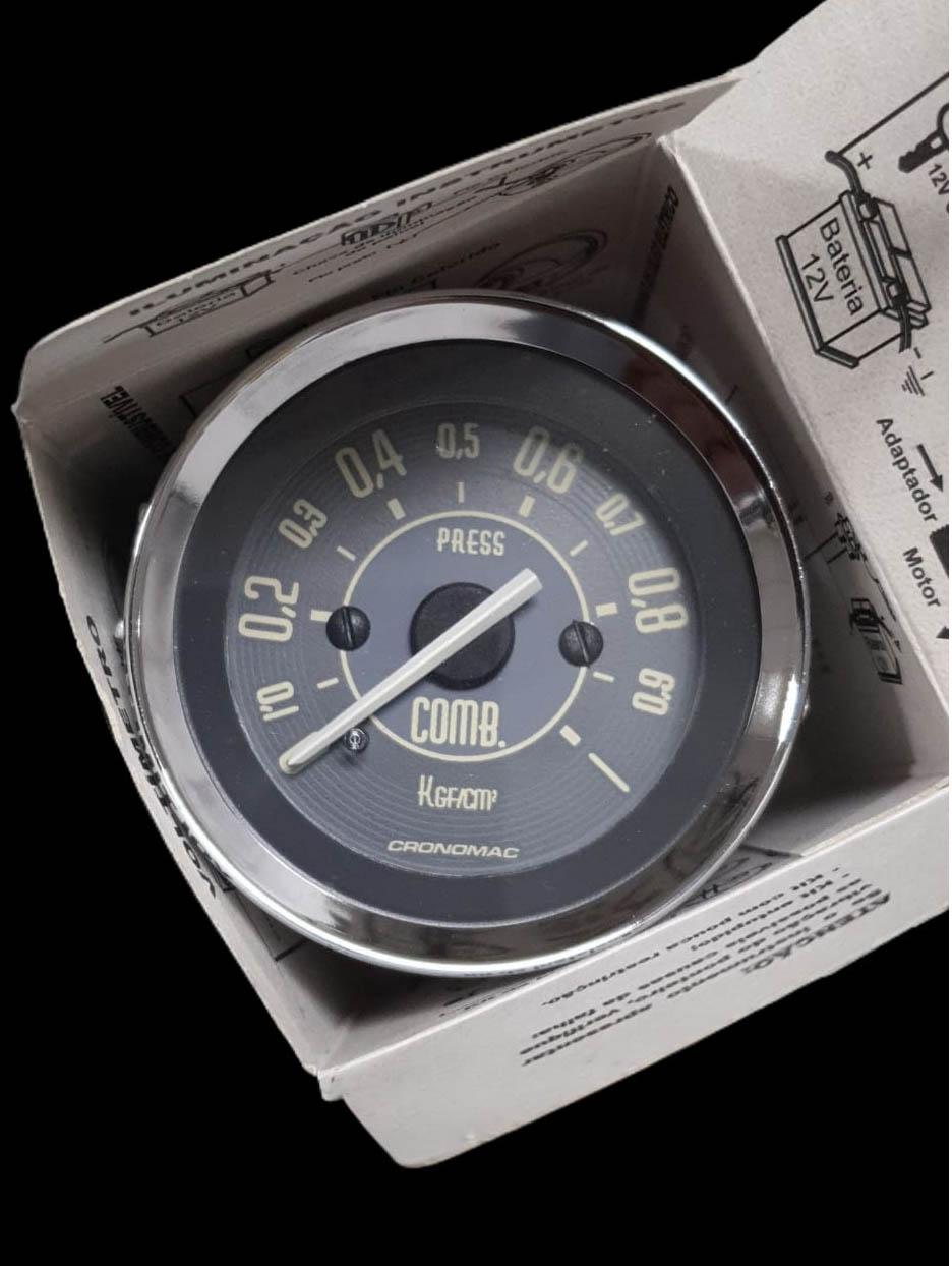 Manômetro Pressão Combustível 52mm Mecânico 1kg VW Bege 155201VWB   - SSR Peças & Acessórios ltda ME.