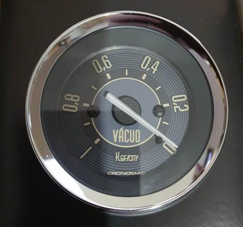 Manômetro Vácuo 52mm CRONOMAC Mecânico VW – Bege 145001vwb  - SSR Peças & Acessórios ltda ME.