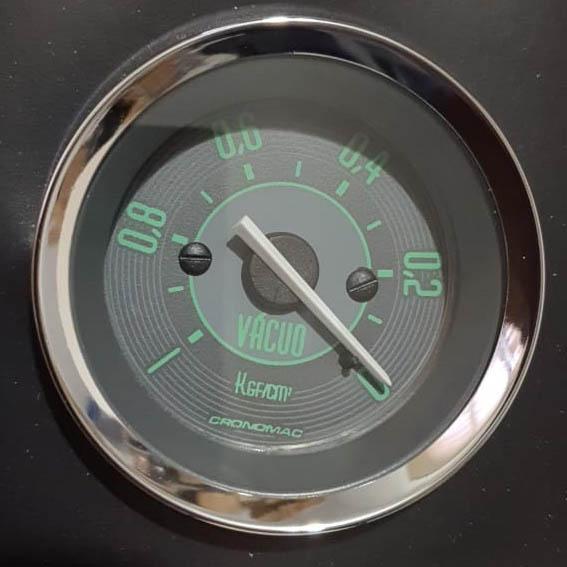 Manômetro Vácuo 52mm CRONOMAC Mecânico VW – Verde 145001VW  - SSR Peças & Acessórios ltda ME.
