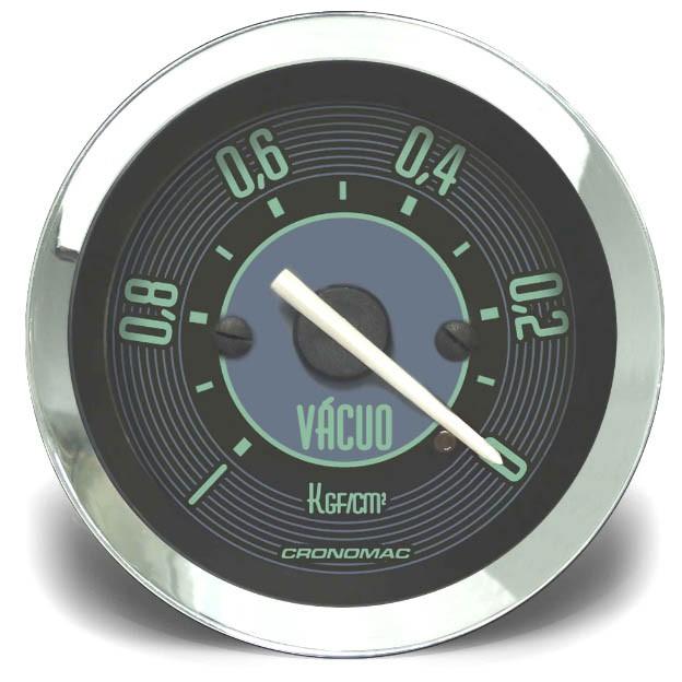 Manômetro Vácuo 52mm CRONOMAC Mecânico VW – Verde  - SSR Peças & Acessórios ltda ME.
