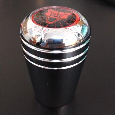 Manopla alumínio cromada c/ logo puma vermelho   - SSR Peças & Acessórios ltda ME.
