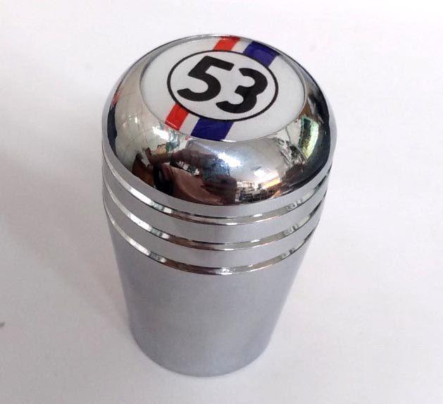 Manopla de cambio alumínio cromada HERBIE 53  - SSR Peças & Acessórios ltda ME.