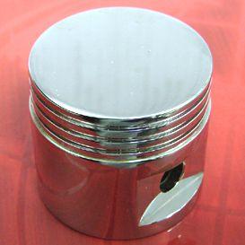 Manopla do câmbio alumínio mod. PISTÃO ( CROMADA )   - SSR Peças & Acessórios ltda ME.