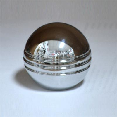 Manopla p/ cambio fusca em alumínio cromada frisada   - SSR Peças & Acessórios ltda ME.