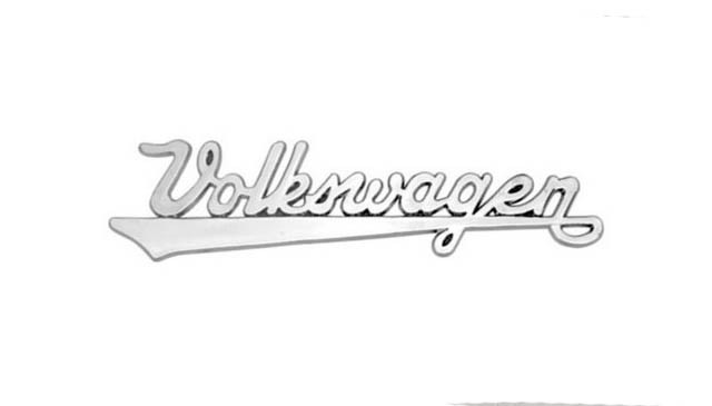 Manuscrito cromado volkswagen plástico   - SSR Peças & Acessórios ltda ME.