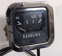 Marcador de combustível (acabamento cromado) para FUSCA 70 até 76   - SSR Peças & Acessórios ltda ME.