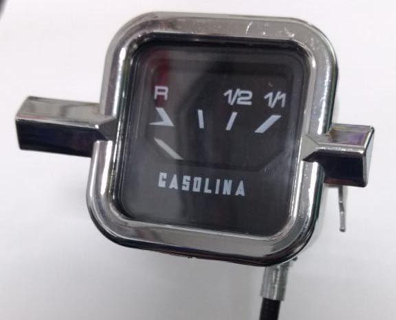 Marcador de combustível (acabamento cromado) para FUSCA até 70    - SSR Peças & Acessórios ltda ME.