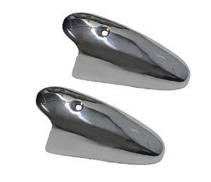 Par capa em metal cromado p/ pisca dianteiro do fusca até 1964  - SSR Peças & Acessórios ltda ME.