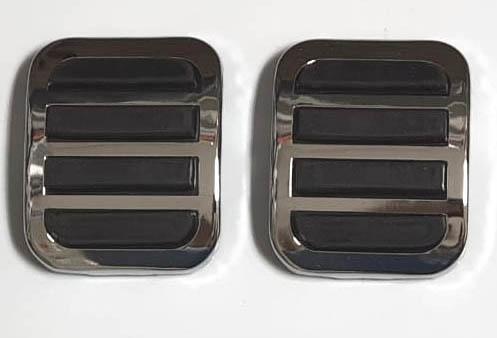 Par capa pedal freio embreagem FUSCA até 1975  - SSR Peças & Acessórios ltda ME.