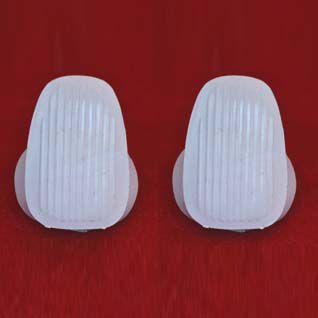 Par de capas branca para alça lateral FUSCA   - SSR Peças & Acessórios ltda ME.
