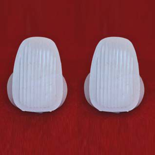 Par de capas brancas para alça lateral FUSCA   - SSR Peças & Acessórios ltda ME.