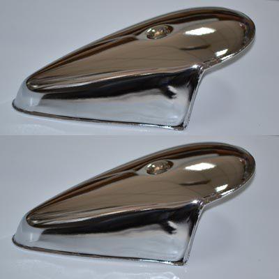 PAR de Capas em metal para pisca do FUSCA 71 até 96  - SSR Peças & Acessórios ltda ME.