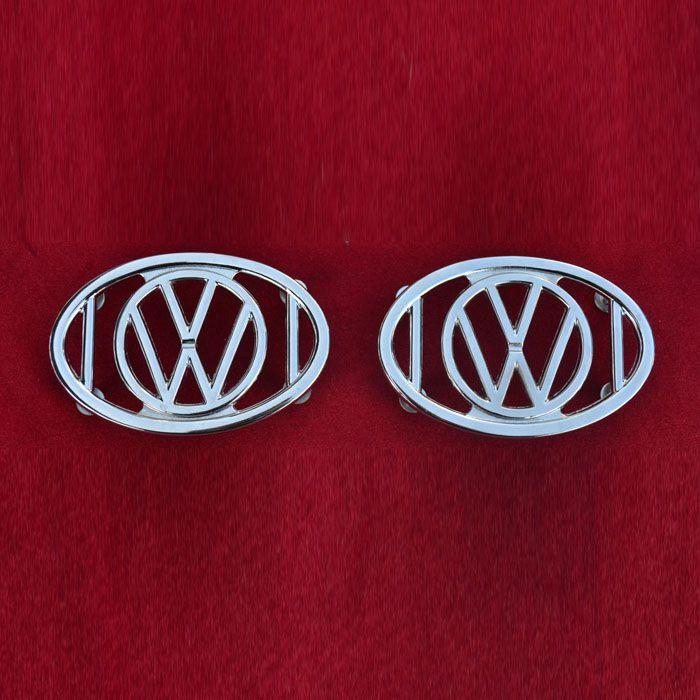 PAR de Grade para-lamas do fusca de luxo com emblema VW   - SSR Peças & Acessórios ltda ME.