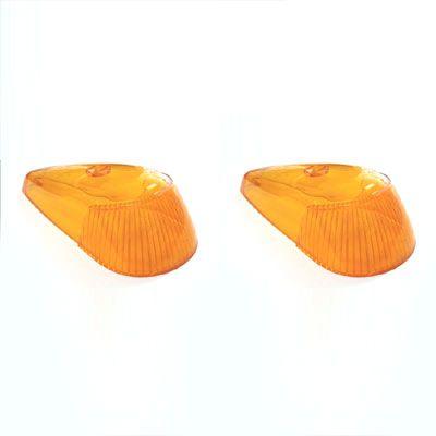 Par de lentes (ACRÍLICO) para PISCA FUSCA 71 ao 96 cor âmbar   - SSR Peças & Acessórios ltda ME.