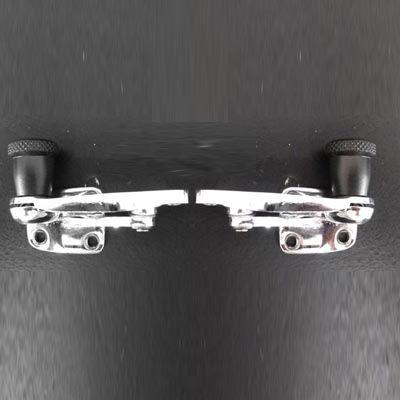 PAR de trinco c/ botão preto vidro basculante fusca   - SSR Peças & Acessórios ltda ME.