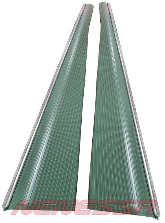 Par de estribos cor verde c/ friso fusca 71/96  - SSR Peças & Acessórios ltda ME.