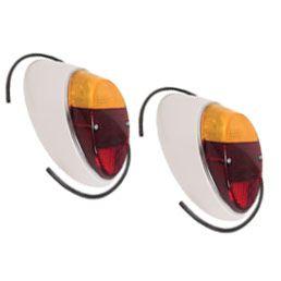 Par lanternas bicolor traseira completa - lâmpada FUSQUINHA   - SSR Peças & Acessórios ltda ME.