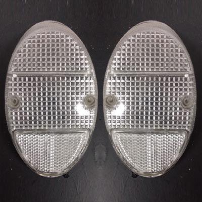 Par lente acrílico cristal p/ fusquinha   - SSR Peças & Acessórios ltda ME.