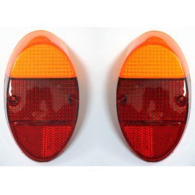 Par lentes EM ACRÍLICO bicolor para lanternas traseira FUSQUINHA   - SSR Peças & Acessórios ltda ME.