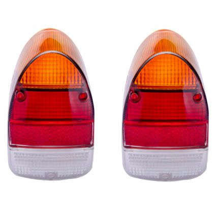 Par lentes EM ACRÍLICO para lanternas traseira FUSCÃO (tricolor)   - SSR Peças & Acessórios ltda ME.
