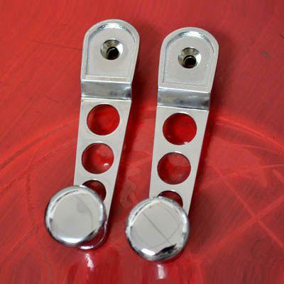 PAR Manivela FUSCA 71/96 cromada sport c/ botão metal cromado   - SSR Peças & Acessórios ltda ME.