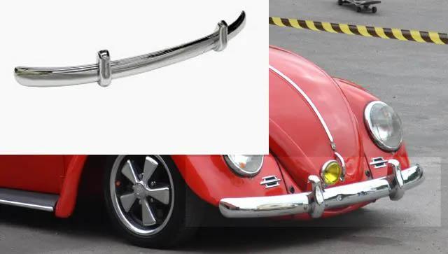 PARA-CHOQUE DIANTEIRO FUSCA c/ garra cromada até 1970 modelo EURO LOOK CAL LOOK  - SSR Peças & Acessórios ltda ME.
