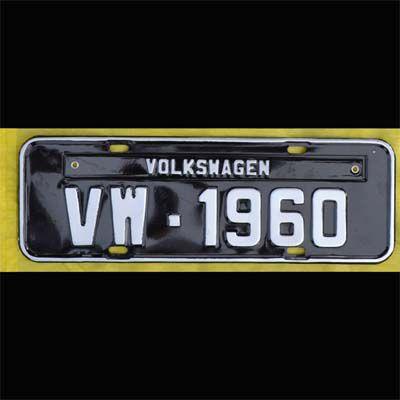 Placa PRETA decorativa Volkswagen VW - 1960   - SSR Peças & Acessórios ltda ME.