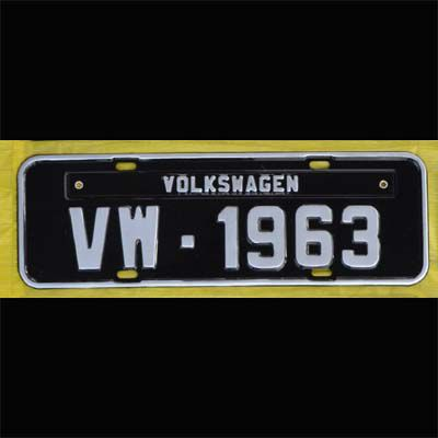 Placa PRETA decorativa Volkswagen VW - 1963  - SSR Peças & Acessórios ltda ME.