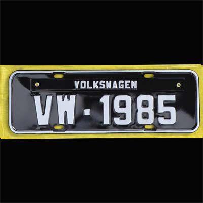 Placa PRETA decorativa Volkswagen VW - 1985   - SSR Peças & Acessórios ltda ME.