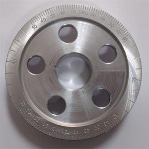 Polia alumínio fusca graduada diametro especial 133MM p/ cárter  - SSR Peças & Acessórios ltda ME.