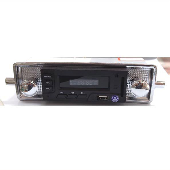 Radio FUSCA até 70 FM MP3 Cartão SD USB estilo retro (botões cromado)  - SSR Peças & Acessórios ltda ME.
